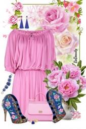 nr 1799 - Floral booties