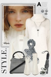 nr 1864 - White and houndstooth