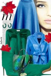 nr 1965 - Emerald green & blue