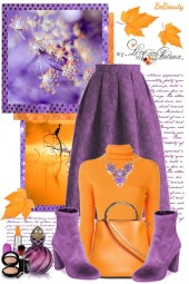 nr 2079 - Orange & purple