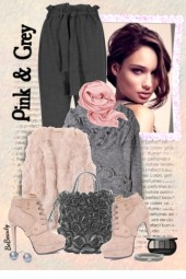 nr 2130 - Pink & grey