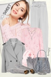 nr 2138 - Sweet pink & grey