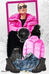 nr 2293 - Pink puffer jacket