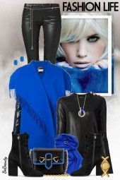 nr 2391 - Royal blue & black