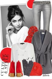 nr 2473 - Red-grey-white