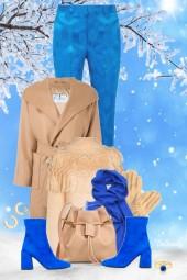 nr 2499 - Beige & blue