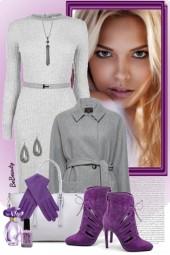 nr 2620 - Grey & purple
