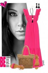 nr 2783 - Pink maxi dress