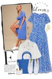 nr 2862 - Blue floral dress