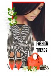 nr 3002 - Striped dress