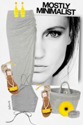 nr 3019 - Grey and yellow