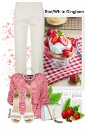 nr 3055 - Red & white gingham