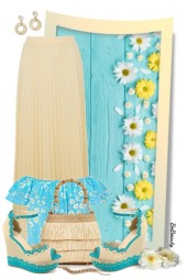 nr 3093 - Pleated maxi skirt