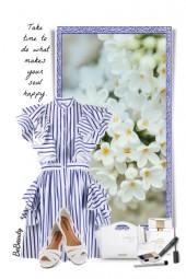 nr 3199 - Striped dress