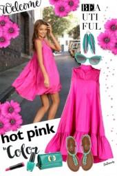 nr 3297 - Hot pink dress