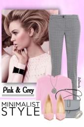 nr 3328 - Pink & grey