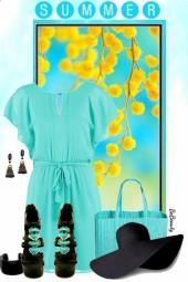nr 3354 - Turquoise & black