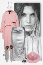 nr 3444 - Grey & pink