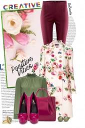nr 3486 - Floral coat