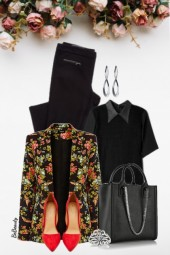 nr 3494 - Floral blazer