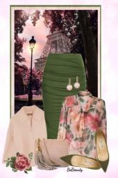 nr 3658 - Floral blouse