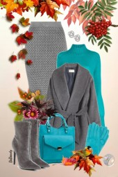 nr 3662 - Turquoise & grey