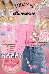 Journi's Anime 'Be Happy' Picnic Outfit