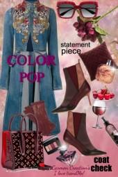 Journi's 'COLOR POP' Coat Check Outfit