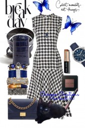 Journi's Navy Accessories Work Outfit