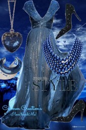 Journi's Mid-Night Blue Ball Gown Outfit