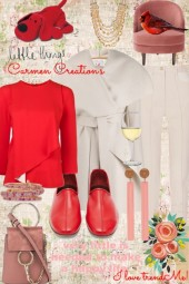 Journi's Winter Red And White Outfit