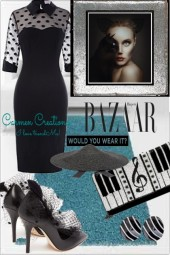 Journi's Bazaar Black Cocktail Dress Outfit