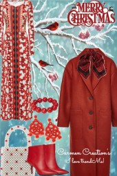 Journi's Red Coat Outfit
