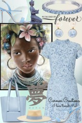 Journi's African Asia Skyblue Outfit