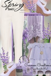 Journi's Lavender Spring Flowers Outfit