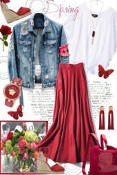Journi's Spring Red Accessories Outfit