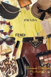 Journi Fendi And Prada Outfit