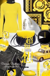 Journi City Yellow And Black Outfit