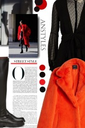 red coat - красная шуба