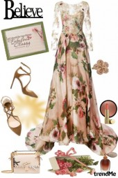 Elegant Floral Gown