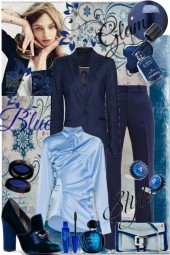 Blue glam Style