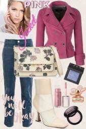 pink jacket style