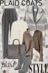 plaid coat style