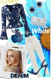 Summer white denim
