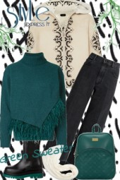 Green sweater style