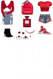 RED TWIN SET