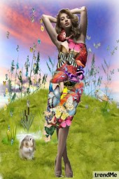Pretty in nature - butterfly dress