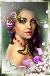 Butterfly &Flower  Girl