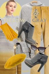 Yellow &Grey