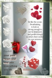 Roses and Hearts for Valentine' Day
